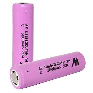 Bateria Recarregável 18650 3000mah 30A - unidade