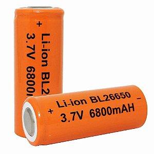 Bateria Recarregável Lanterna 26650 p/ X800 e X1000 - Unidade