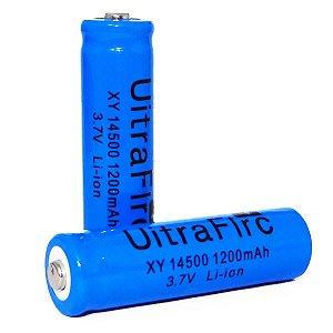 Bateria Recarregável Li-ion 14500 3,7 / 4,2 V azul - Unidade