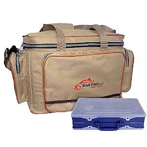 Bolsa de Pesca Martinelli Pro Team G + Estojo HI duplo 35 x 22 x 8,3 cm azul