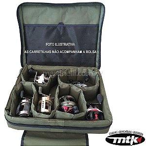 Bolsa porta carretilhas multipla MTK - comporta até 9 carretilhas