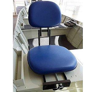 Cadeira giratória estofada Pesca Piloteiro dobrável Azul.