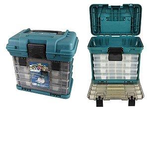 Caixa de pesca Nautika MB1 C/ 4 bandejas - Similar a Plano