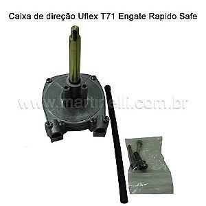Caixa direção Uflex T 71 engate rápido Safe T (USA)