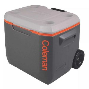 Caixa térmica Coleman 50 QT - 47,3L cinza c/ rodas