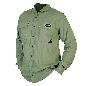 Camisa MTK Sky manga longa UVA e UVB Tam: EX Cor: verde