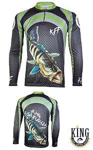 Camiseta de Pesca King 10 - Tucunaré - Tam: 05 - EX