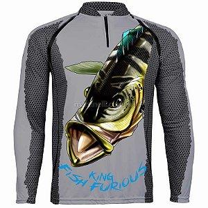 Camiseta de Pesca King 7 - Tucunaré Azul - Tam: 03 - G