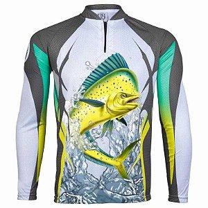 Camiseta de Pesca King Dourado do Mar KFF49 - tam: M