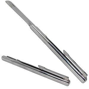 Canivete Aço Inox Tipo Caneta Cirúrgico Original Tamanho G