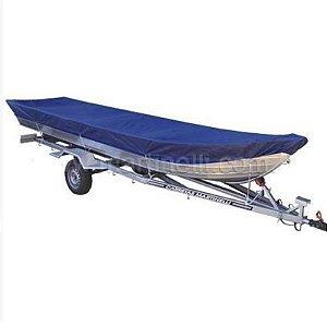 Capa de proteção para barcos de 4 a 6 metros sem volante, sem capuz do motor (lona nylon 600) - Fabricamos para todas as marcas e modelos.