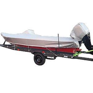 Capa de proteção para lanchas de fibra ou alumínio 17/18/19 pés (Lona Rip Stop Metalizada) - Fabricamos para todas as marcas e modelos.
