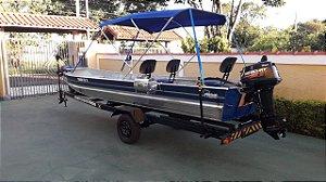 Capota Toldo para barcos comuns de 4 a 6 metros sem volante NBF- Fabricamos p/ todas as marcas.