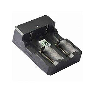 Carregador Duplo p/ Bateria 14500/18650 e 26650 - X800 E X1000