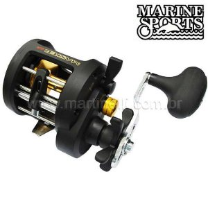 Carretilha Marine Sports Master 30HI 7 Rolamentos, Drag 10kg - Esquerda - Perfil Alto
