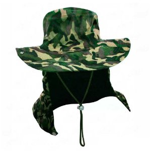 Chapéu com proteção camuflado