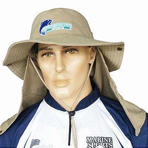 Chapéu com proteção caqui