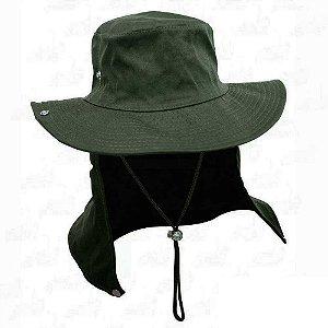 Chapéu com proteção verde