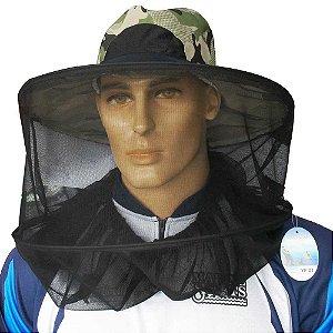 Chapéu de pesca com tela mosquiteiro Yf01 p/ pesca e camping