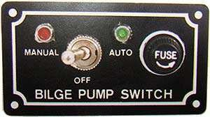 Chave painel elétrico 12V p/ bomba de porão