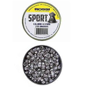 Chumbo Rossi Sport Cal. 4.5 mm c/ 250 un.