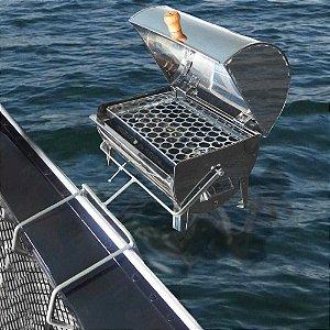 Churrasqueira para barco Bafinho Marajó/ Marfim inox 30x20