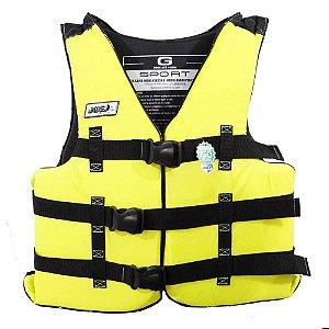 Colete Salva-vidas Jogá G de 55 até 110Kg Homologado Amarelo