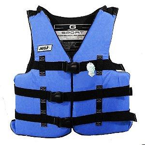 Colete Salva-vidas Jogá GG acima de 110Kg Homologado Azul