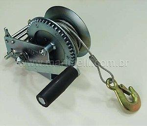 Guincho Manual 1800 lbs com gancho e cabo de aço 10m