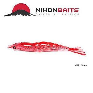 Isca artificial Camarão JET Shrimp Nihon Baits 11cm - 06 COBRE