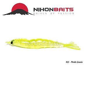 Isca artificial Camarão JET Shrimp Nihon Baits 8,7cm - 11 VERDE LIMAO