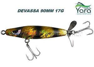 Isca artificial Yara Devassa 90mm 17G cor 17 - Dourada