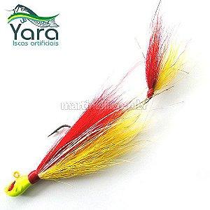 Isca artificial Yara Killer Jig 17g cor: 42 vermelho e amarelo