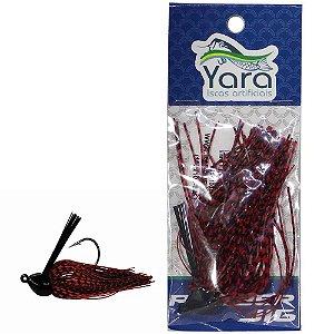 Isca artificial Yara Rubber 14g Cor 82 Vermelho c/ Preto - 3082