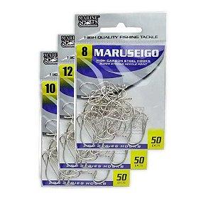 Kit 150 Anzol Marine Sports Maruseigo Nickel - 10 - 08- 12