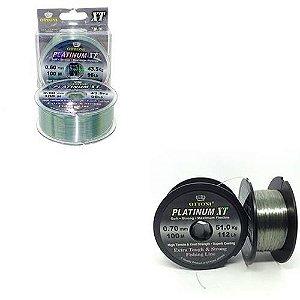 Kit: 1 Linha Monofilamento Platinum XT BOX 0,60mm 100m + 1 Linha 0,80mm - 100m
