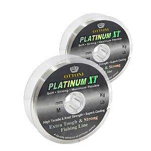 Kit 1X 0,40mm 100m + 1X Linha Monof Platinum XT 0,50mm 100m
