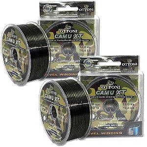 kit 1X Linha Monofilam Camu XT 0,40mm-270m e 1X -0,50mm-150m