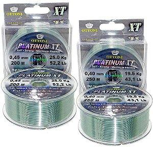 Kit 1X Linha Mono Platinum XT 0,40mm-250m e 1X 0,45mm-200m