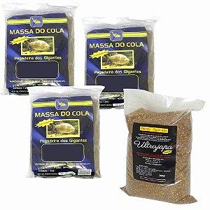 Kit 3X Massa Do Cola 500 gr e 1X Massa Japo Ultrajapa 700gr