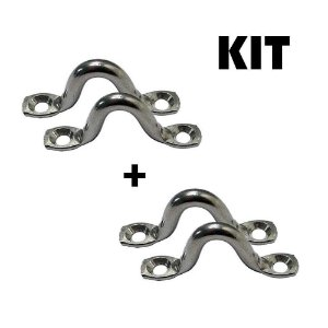 Kit 4 Alças Inox 6 mm.