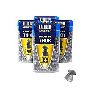 kit 4 Chumbinho Norica Thor 4,5mm c/ 185 un. cada