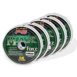 Kit 5 Linhas multifilamento Maruri Max Force 0,60mm 70lb