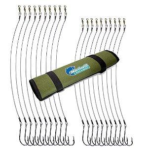Kit Anzol encastoado 4330 7/0, 8/0 + Porta anzol encastoado