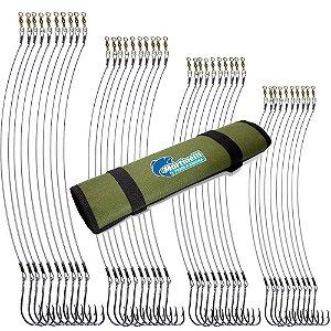 Kit Anzol Encastoado 4330 Flex 2/0+3/0+4/0+5/0+Porta Anzol