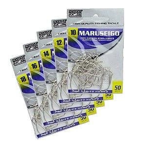 Kit Anzol Marine Sports Maruseigo Nickel 10,12,14,16 e 18