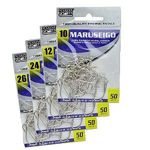 Kit Anzol Marine Sports Maruseigo Nickel 10, 12, 24 e 26