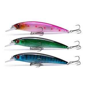 Kit de 3 iscas Raptor-X 100 cores: Rosa, verde e azul