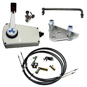 Kit de adaptação motor Yamaha 15 HP manual para comando a distância, completo com cabo de comando 14 pés.