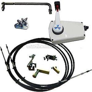 Kit de adaptação motor Yamaha 25 HP manual para comando a distância, completo com cabo de comando 12 pés